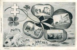 N°33857 -cpa Porte Veine D'Arches -cochon- Multivues- - Cochons