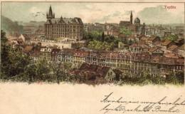 T2/T3 Teplice, Teplitz, Synagogue; Litho - Postcards
