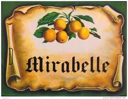 """ETIQUETTE  """" MIRABELLE """" - Parfait Etat - - Fruits & Vegetables"""
