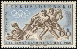 Czechoslovakia / Stamps (1960) 1099: Winter Olympic Games 1960 Squaw Valley (Ice Hockey); Painter: Mario Stretti