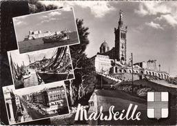 G , Cp , 13 , MARSEILLE , Multi-Vues - Saintes Maries De La Mer