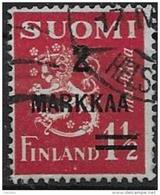 Finlande 1937 N° 194 Oblitéré Série Courante Surchargé
