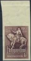 ** 1956 Hunyadi János Vágott ívszéli Bélyeg (7.000) - Stamps
