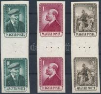 ** 1954 Lenin Vágott Sor ívközéprészes Párokban R! - Stamps