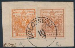 1850 3kr + 6kr Kivágás Teljes Hamisítvány/ Forgery For Comparison - Stamps