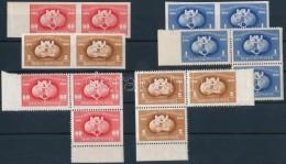 ** 1949 UPU ,,B' Sor Párokban + ,,C' Sor Középen Fogazott Hármastömbökben... - Stamps