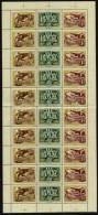 ** 1957 Bélyegnap Hajtott Teljes ív (10.000) - Stamps
