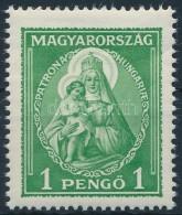 ** 1932 Nagy Madonna 1P (12.500) (ránc / Crase) - Stamps