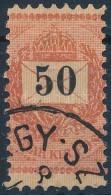 O 1889 50kr Látványosan Keskenyre Fogazva - Stamps