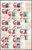 ** 1975 Felszabadulás (VI) Vágott Négyestömbök 'A Magyar Posta... - Stamps