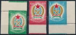 ** 1949 Alkotmány ívszéli Sor Makkos Vízjellel (22.000++) - Stamps
