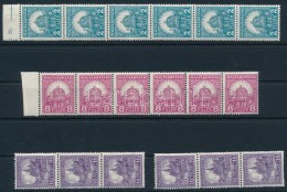 ** 1928 PengÅ'-fillér II. 6 Db B Sor összefüggésekben (30.000) - Stamps