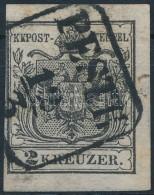 O 1850 2kr MP ,,PESTH' (20.000) Szűken Vágva - Stamps