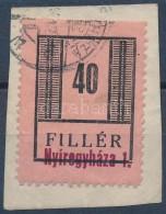 1944 Nyíregyháza II 40f I. Típus Kivágáson, Bélyegezve (25.000++)... - Stamps