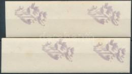 ** 1950 Virág 40f Fogazatlan Fázisnyomat Pár + ívközéprészes... - Stamps