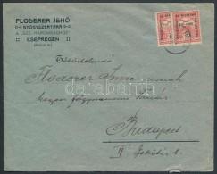 1917 10f Felezett Hadisegély Bélyeg Levélen 'CSEPREG' - Stamps