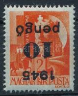 ** 1945 KisegítÅ' 10p/ 2f Fordított Felülnyomás (25.000) - Stamps
