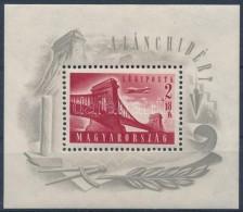 ** 1948 Lánchíd I Blokk Vízjel Nélkül (25.000 + 50 %  = 37.500 / Mi Block 12... - Stamps