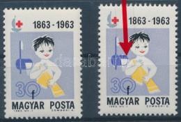 ** 1963 Vöröskereszt 30f, A TörülközÅ' Elcsúszott Tévnyomat +... - Stamps