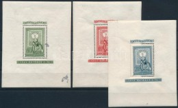 ** 1951 80 éves A Magyar Bélyeg Blokksor (42.000) (foltok, Gumihibák/ Stain, Gum Disturbances) - Stamps