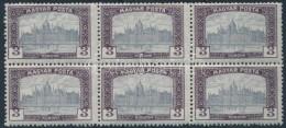 ** 1919 Magyar Posta 3K Hatostömb Keretbe Csúszott értékszámokkal - Stamps