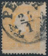 O 1858 2kr Narancs ,,PE(ST)H' (elvékonyodás/ Thin Paper ) - Stamps