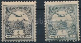** 1900 Turul 1f Ibolya Szürke, Nem Katalogizált Ritkaság + Támpéldány,... - Stamps