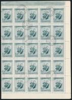 O 1955 Bartók Béla Zöld és Barna 1Ft 2-2 Db Teljes ív, Benne Lemezhibákkal... - Stamps