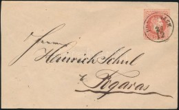 1867 5kr Díjjegyes Boríték 'PORUMBACH' (Gudlin  600 Pont ) - 'FOGARAS' - Stamps