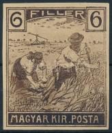 1916 Arató Ebben A Formában Nem Megvalósult 6f Bélyeg Tervének Nyomata - Stamps