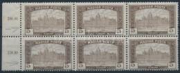 ** 1919 Magyar Posta 5K Hatostömb Keretbe Csúszott értékszámokkal - Stamps