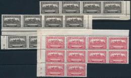 ** 1926 PengÅ'-fillér I. 10 Db A Sor Klf összefüggésekben (250.000) - Stamps