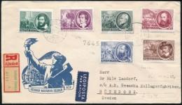1952 1848-as Szabadságharcosok 'B' Sor (12:12 Fogazás Kivéve 30f) Ajánlott Légi... - Stamps
