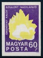 ** 1969 Földtani Intézet Vágott 60f Fekete Színnyomat Nélkül  / Minerals Mi... - Stamps