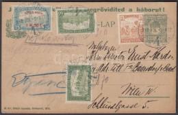 1918.júl.5. Hadikölcsön Propaganda Díjjegyes LevelezÅ'lap RepülÅ' Posta 1,50k +... - Stamps