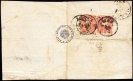 1860 2 × 5kr II. Tértivevény / On Retour Recepisse 'MAKÓ' - 'DETTA' - Stamps