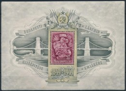 ** 1949 Lánchíd III Blokk FekvÅ' Vízjellel (75.000) (sarok Kopás/ Corner Fault) - Stamps