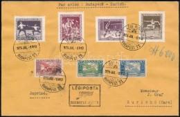 1925 Légi Levél Sport és Ikarusz 17.600K Vegyes Bérmentesítéssel... - Stamps