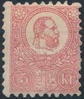* 1871 KÅ'nyomat 5kr Eredeti Gumival, Falcos/ With Original Gum (90.000) - Stamps