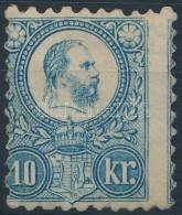 * 1871 Réznyomat Képbefogazott 10kr Eredeti, Javított Gumi (* 90.000) - Stamps