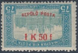 ** 1918 RepülÅ' Posta 1K50f Fordított Felülnyomattal (250.000) (garancia Nélkül / No... - Stamps