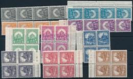 ** 1926 PengÅ'-fillér I. A Sor Négyestömbökben Ill. Csíkokban (100.000) - Stamps
