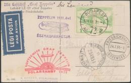 1931 Zeppelin északi Sarki útja Képeslap Leningrádi Ledobással / Zeppelin Flight... - Stamps