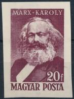 (*) 1953 Marx Ebben A Formában Kiadatlan Bélyeg Próbanyomata - Stamps