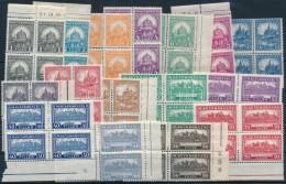 ** 1926 PengÅ'-fillér (I) A Sor ívszéli Négyestömbökben / Mi 411-426 Margin... - Stamps