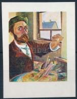 (*) 1967 Festmények III. 3Ft Vágott  Bélyeg Arany és Fekete Színnyomat... - Stamps