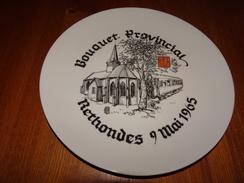 Assiette Bouquet Provincial Rethondes, Oise, 1965, Tir à L'arc, Archerie, Beursault, Armistice 1918, Wagon, F. Gross - Tir à L'Arc