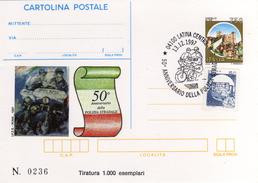 Italia 1997 Cartolina Postale IPZS Latina 50° Anniversario Polizia Stradale Con Annullo 13/12 - 6. 1946-.. Repubblica