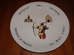 Assiette Bouquet Provincial Des Archers, Neuilly Saint Front, Aisne, 23 Mai 1965, Tir à L'arc, Archerie, Beursault, NEUF - Tiro Con L'Arco