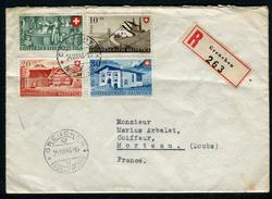 Suisse - Cover / Enveloppe En Recommandé De Grenchen Pour La France En 1946 , Affr. Plaisant    Ref F162